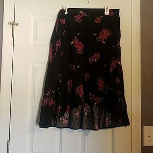 High low mid calve skirt
